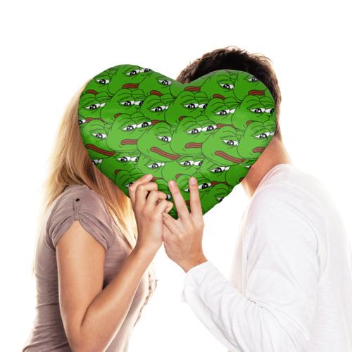 Подушка 3D сердце  Фото 03, Sad frogs