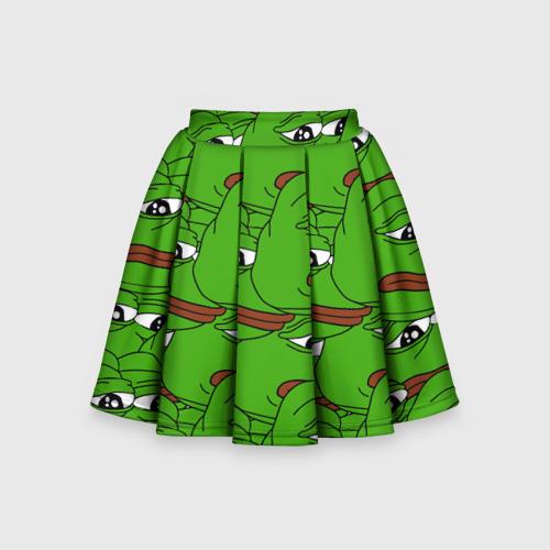 Детская юбка-солнце 3D Sad frogs