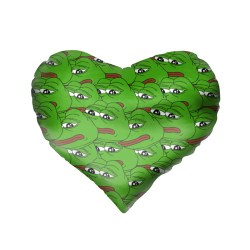 Подушка 3D сердце  Фото 02, Sad frogs