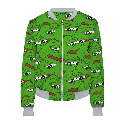 Женский бомбер 3D Sad frogs