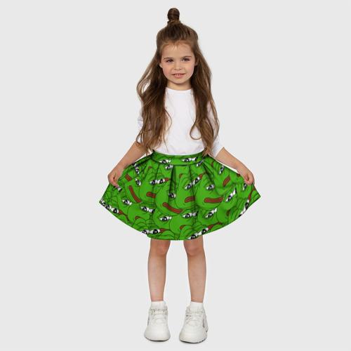Детская юбка-солнце 3D  Фото 03, Sad frogs