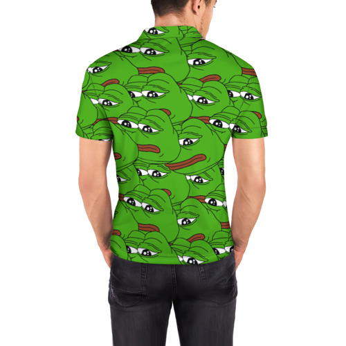 Мужская рубашка поло 3D  Фото 04, Sad frogs