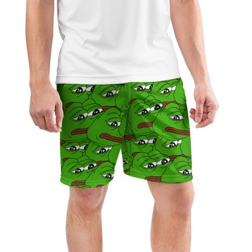 Мужские шорты 3D спортивные  Фото 03, Sad frogs