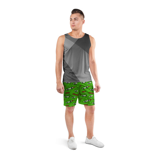 Мужские шорты 3D спортивные  Фото 04, Sad frogs