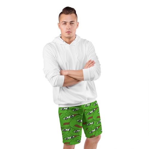 Мужские шорты 3D спортивные  Фото 05, Sad frogs