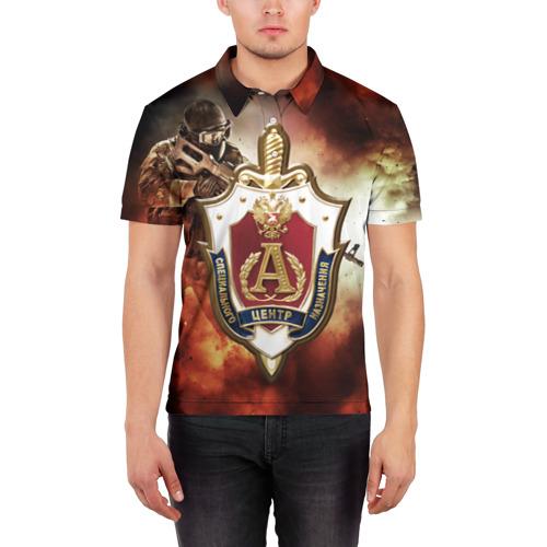 Мужская рубашка поло 3D Отряд Альфа Фото 01