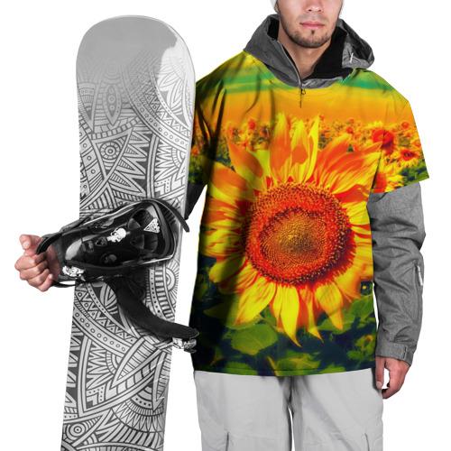 Накидка на куртку 3D Подсолнухи Фото 01