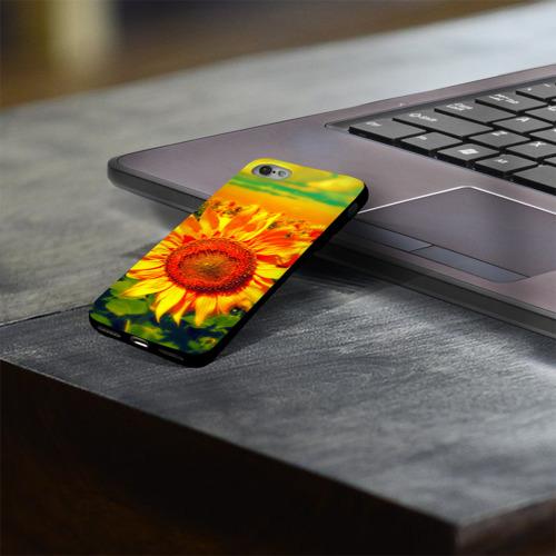 Чехол для Apple iPhone 8 силиконовый глянцевый Подсолнухи Фото 01