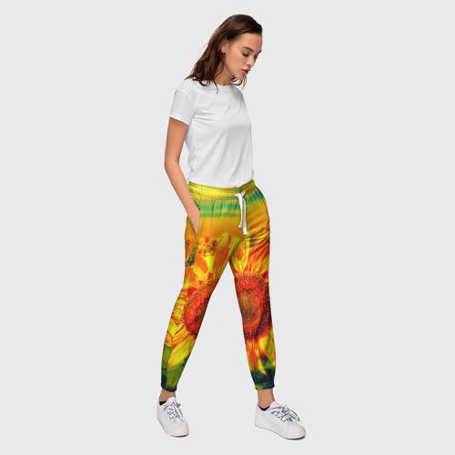 Женские брюки 3D Подсолнухи Фото 01