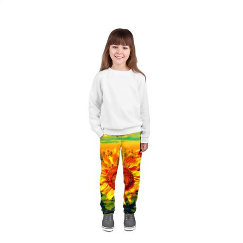 Детские брюки 3D Подсолнухи Фото 01