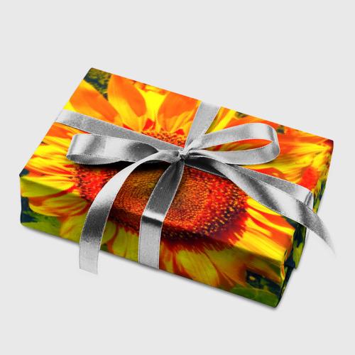 Бумага для упаковки 3D Подсолнухи Фото 01