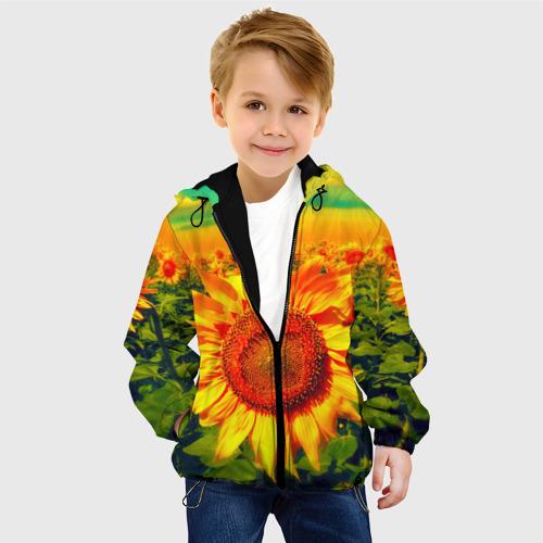 Детская куртка 3D Подсолнухи Фото 01