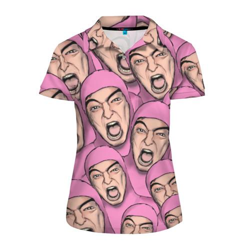 Женская рубашка поло 3D Pink Guy