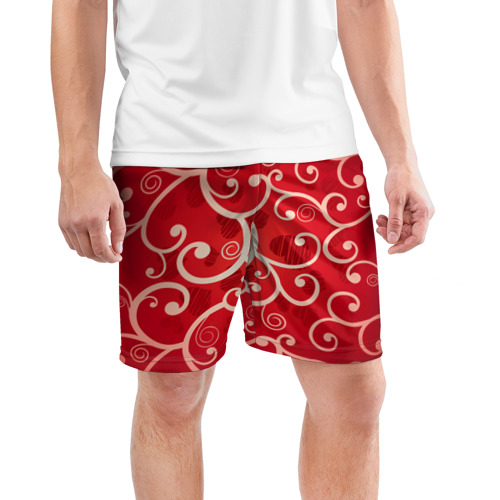 Мужские шорты 3D спортивные  Фото 03, Сердца