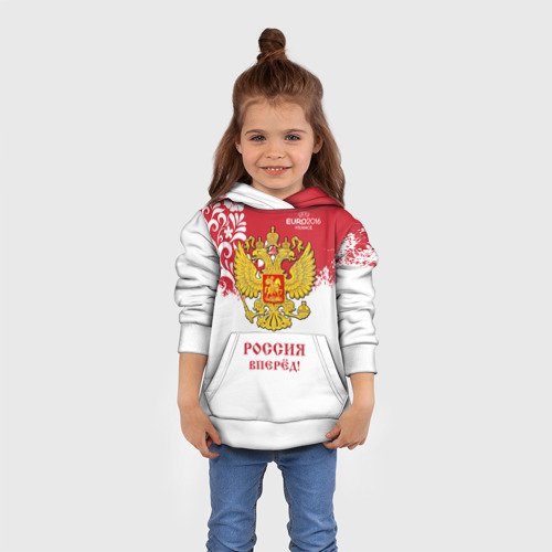 Детская толстовка 3D Euro 2016 (Russia)