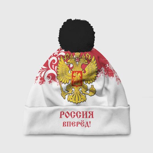 Шапка 3D c помпоном Euro 2016 (Russia)