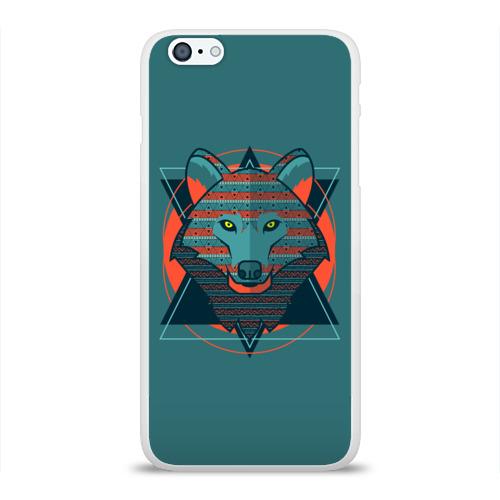 Чехол для Apple iPhone 6Plus/6SPlus силиконовый глянцевый  Фото 01, Волк