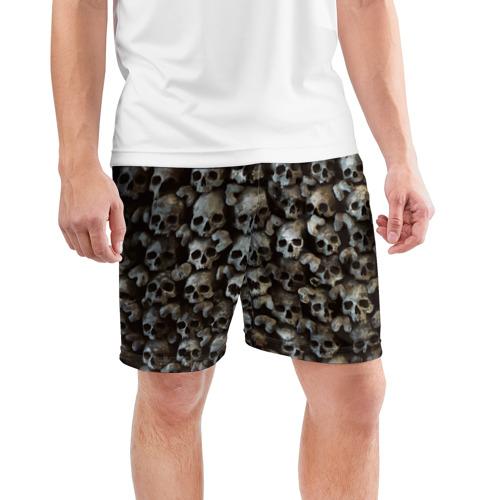 Мужские шорты 3D спортивные  Фото 03, Черепа