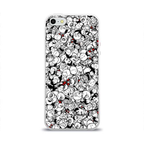 Чехол для Apple iPhone 5/5S силиконовый глянцевый  Фото 01, Мемы