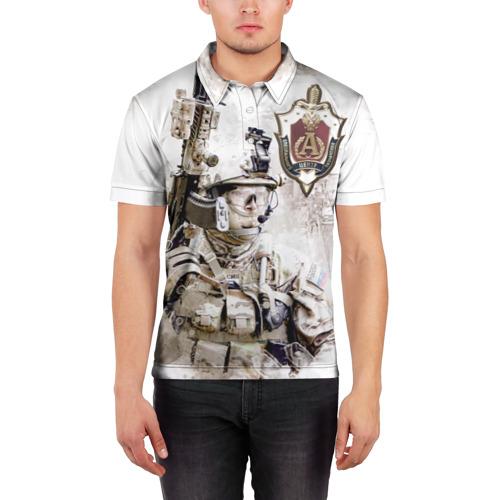 Мужская рубашка поло 3D  Фото 03, Альфа, отряд, спецназ России,