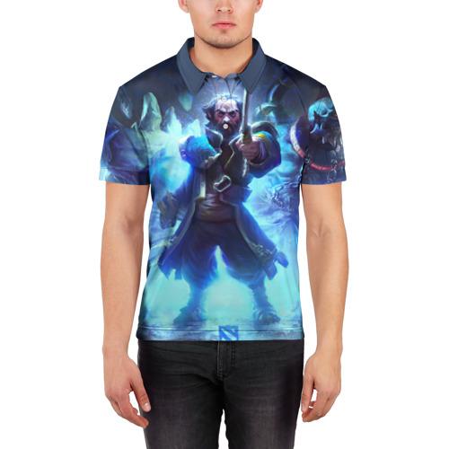 Мужская рубашка поло 3D  Фото 03, Blue