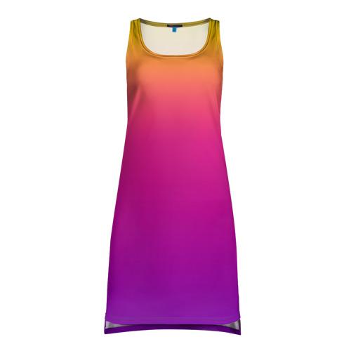 Платье-майка 3D Чёткий градиент