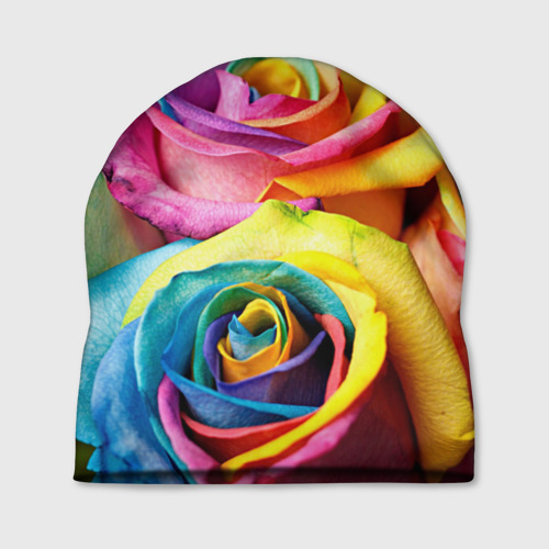 Шапка 3D Цветные розы