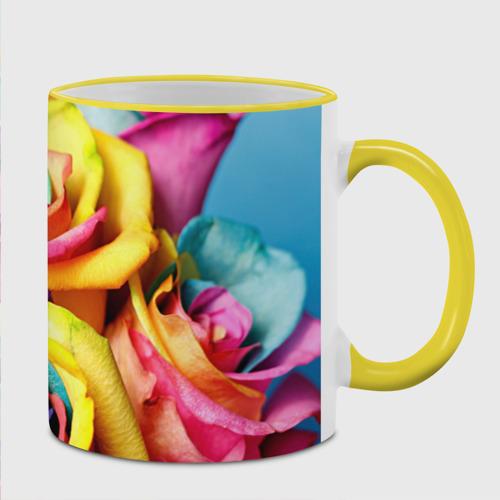 Кружка с полной запечаткой Цветные розы Фото 01