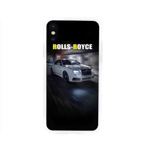 Чехол для Apple iPhone X силиконовый глянцевый  Фото 01, Rolls-Royce