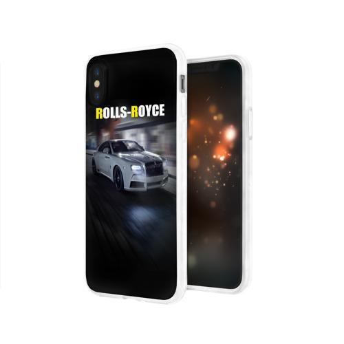 Чехол для Apple iPhone X силиконовый глянцевый  Фото 03, Rolls-Royce