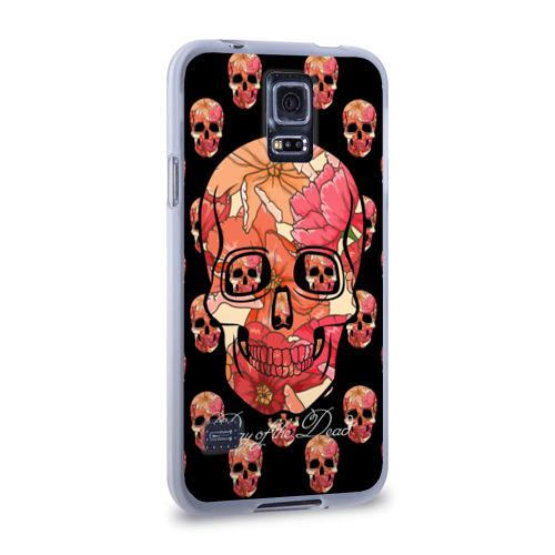 Чехол для Samsung Galaxy S5 силиконовый  Фото 02, Мексиканский череп