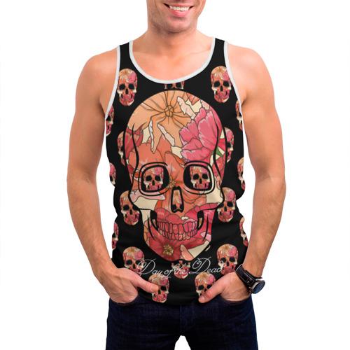 Мужская майка 3D  Фото 03, Мексиканский череп