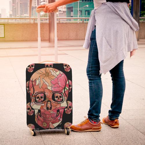 Чехол для чемодана 3D  Фото 04, Мексиканский череп