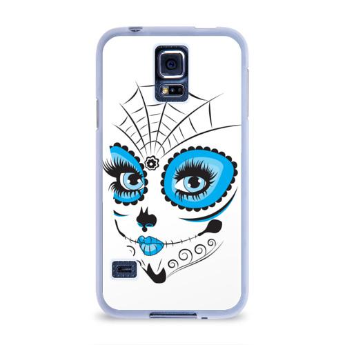 Чехол для Samsung Galaxy S5 силиконовый  Фото 01, Мексиканский череп