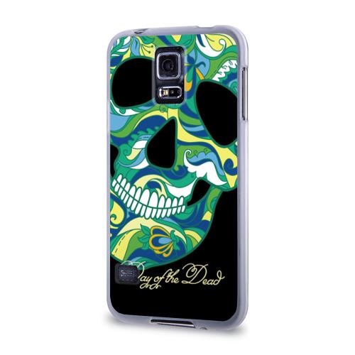Чехол для Samsung Galaxy S5 силиконовый  Фото 03, Мексиканский череп