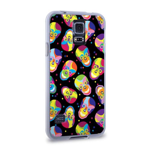 Чехол для Samsung Galaxy S5 силиконовый  Фото 02, Мексиканские черепа