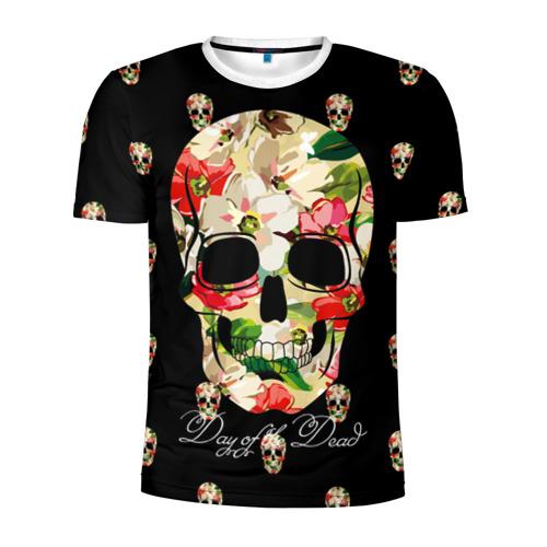 Мужская футболка 3D спортивная  Фото 01, Мексиканский череп