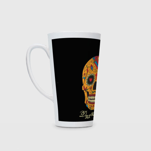 Кружка Латте  Фото 01, Мексиканский череп