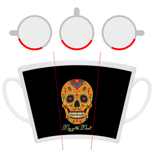 Кружка Латте  Фото 06, Мексиканский череп