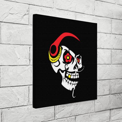 Холст квадратный  Фото 03, Мексиканский череп