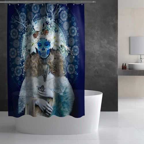 Штора 3D для ванной  Фото 03, День мертвецов