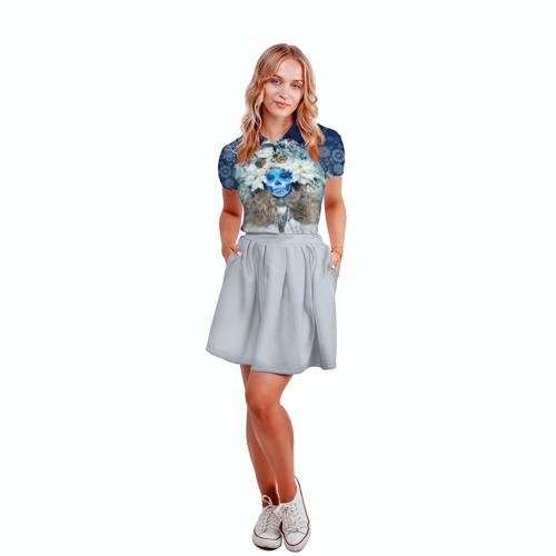 Женская рубашка поло 3D  Фото 04, День мертвецов