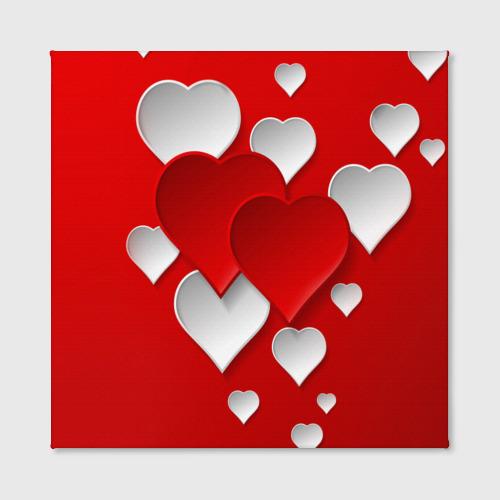 Холст квадратный  Фото 02, Сердца