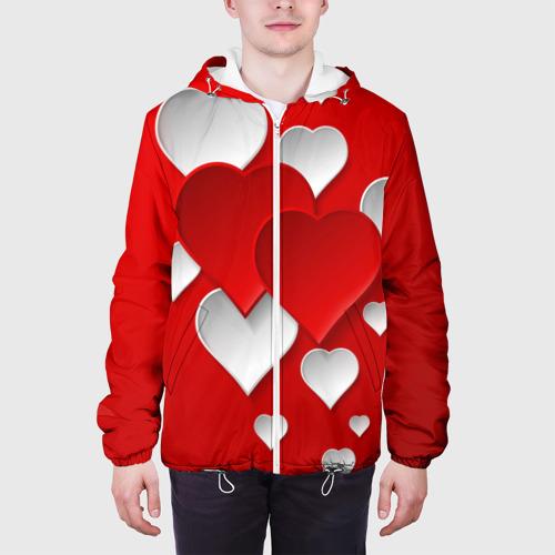 Мужская куртка 3D  Фото 04, Сердца