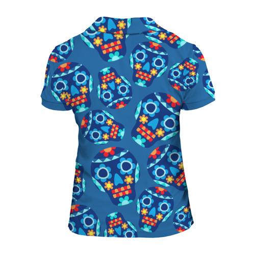 Женская рубашка поло 3D  Фото 02, Мексиканские черепа