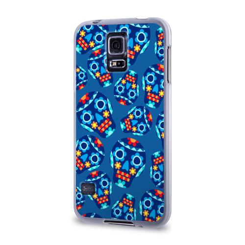 Чехол для Samsung Galaxy S5 силиконовый  Фото 03, Мексиканские черепа