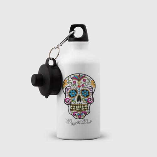 Бутылка спортивная Мексиканский череп Фото 01