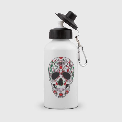 Бутылка спортивная  Фото 01, Мексиканский череп