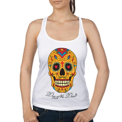Женская майка борцовка  Фото 01, Мексиканский череп