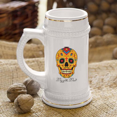 Кружка пивная  Фото 04, Мексиканский череп
